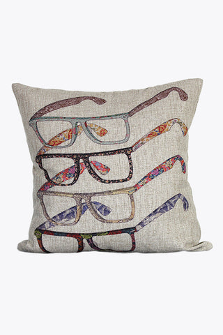 Retro Glasses Printing Pillow