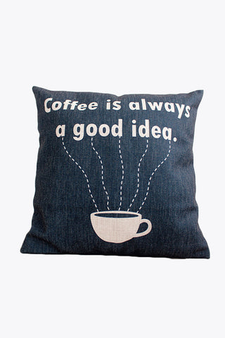 Get A Cup Of Coffee Retro Style Pillow