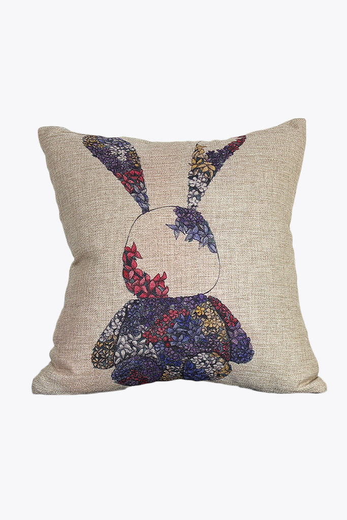 Retro Floral Rabbit Pillow