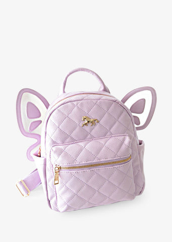 Lilac Leather Butterfly Backpack