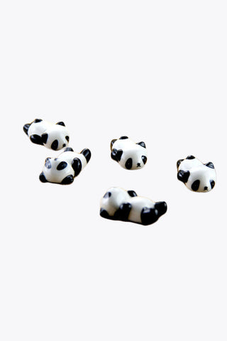 Cute Ceramic Little Panda Chopsticks Holder-5pcs