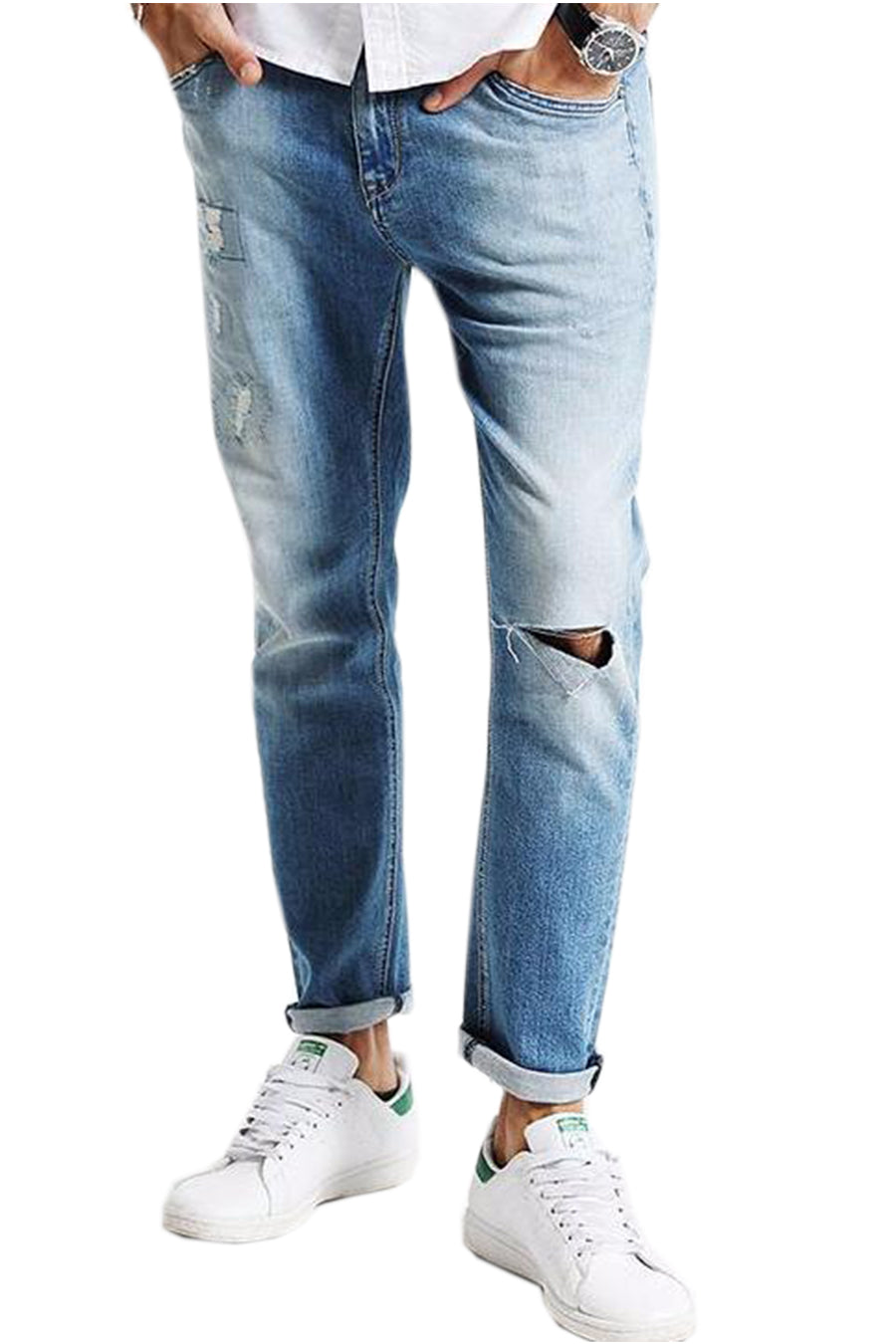 Stonewashed Pencil Jeans