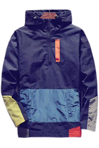 Color Block Windbreaker Hoodie
