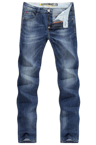 Stonewashed Straight Jeans