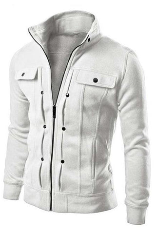 Stand Collar Casual Jacket