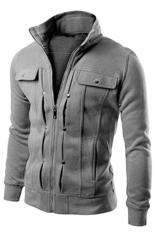 Agapito Stand Collar Casual Jacket