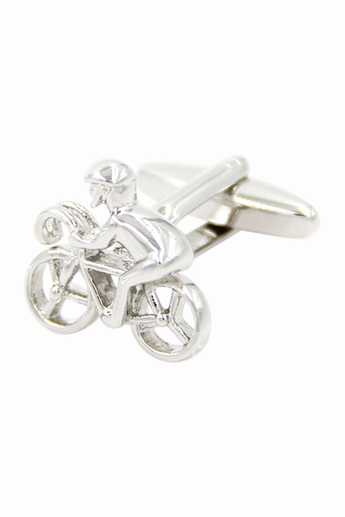 Bicycle Sportsman Men's Cufflinks In Silver