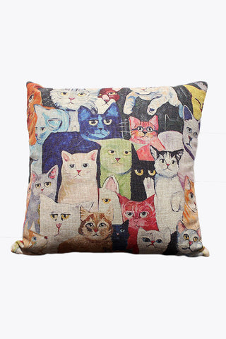Kawaii Cat Prints Pillow