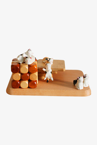 Cute Kitten Ceramic Chopsticks Holder