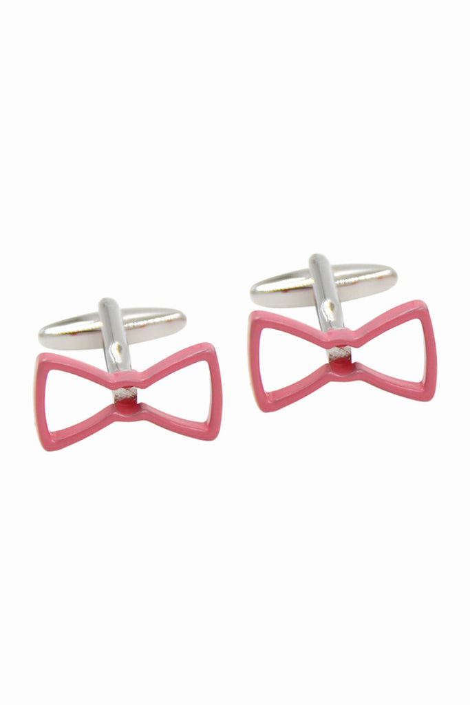 Pink Bowknot Men's Cufflinks