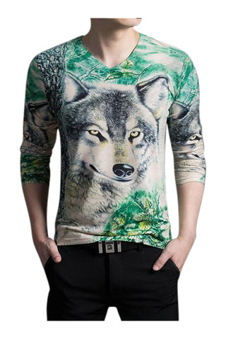 Wolf Slim Fit Long Sleeve T-shirt