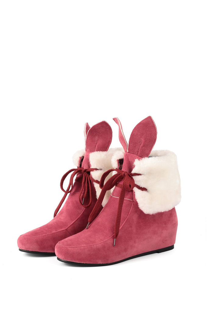 Rabbit Ears Boots In Fuchsia
