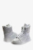 Vintage Riveted Boots In White