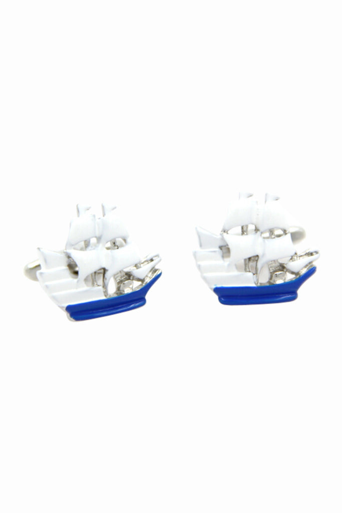 Boat Shaped Men's Cufflinks