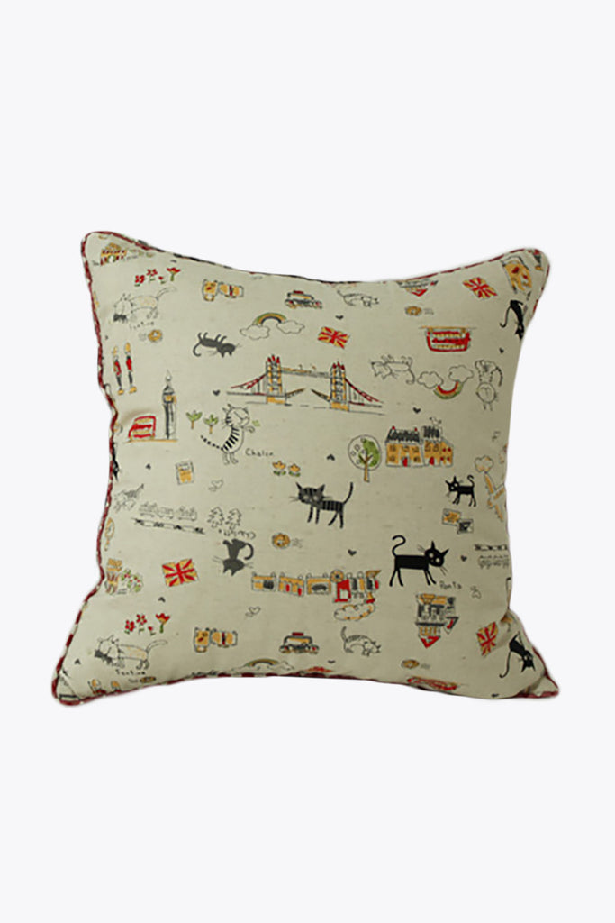 Kitty Cartoon Prints Pillow