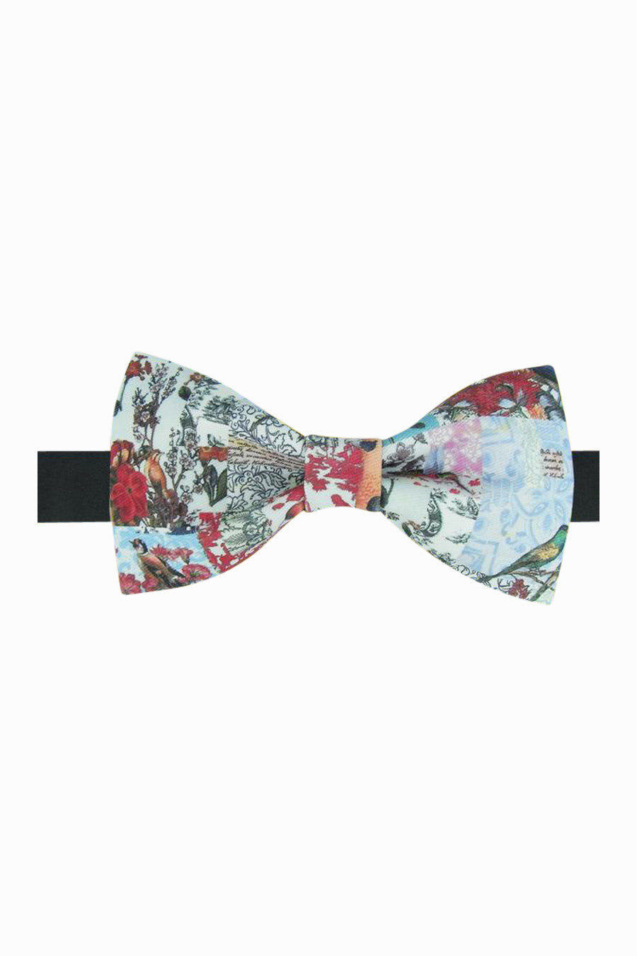 Retro Inspired Blue Pattern Bow Tie