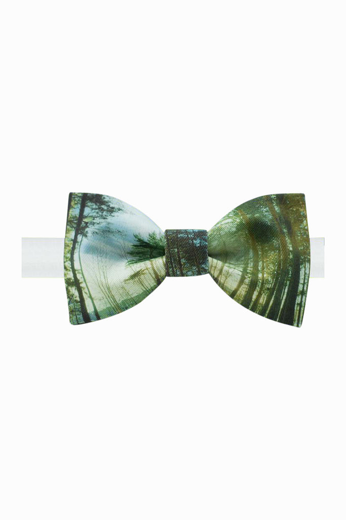Vintage Forest Bow Tie