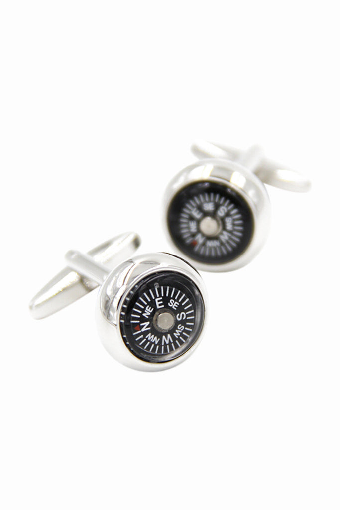 Black Compass Men's Dress Shirt Cufflinks