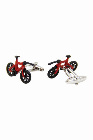 Men's Dress Shirt Bicycle Cufflinks
