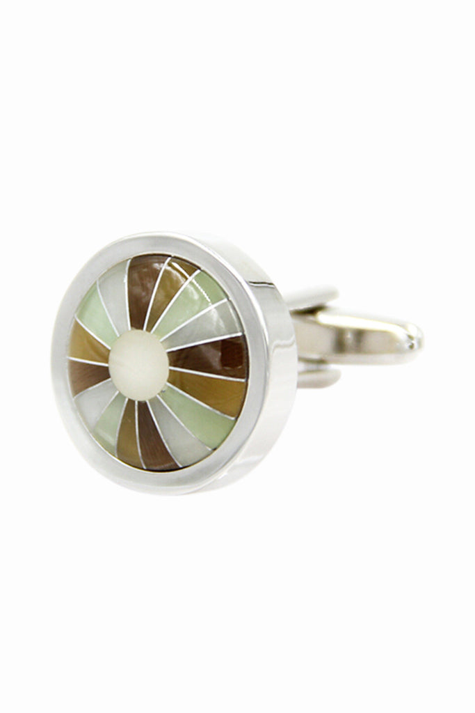 Vintage Round Cufflinks For Men