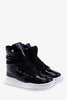 Patent High Top Boots In Black