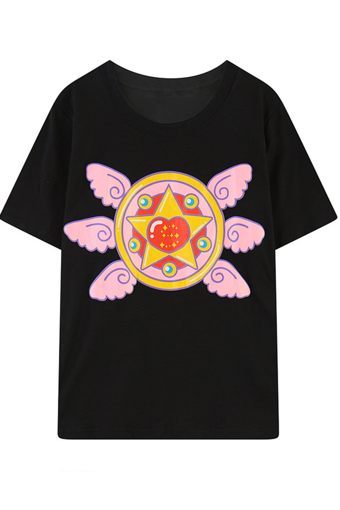 Black Sailor Moon Prism Wings T-shirt