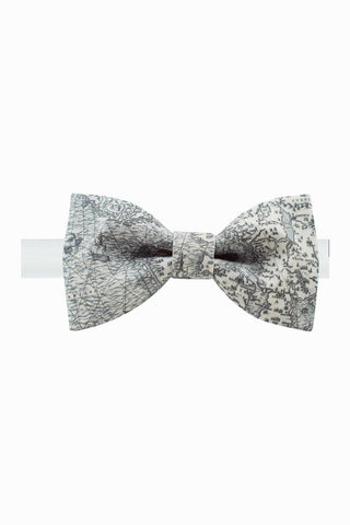 Fashion Black And Beige Bow Tie