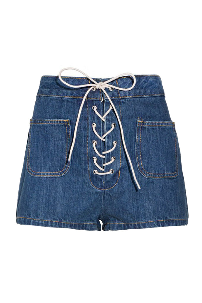 Denim Shorts With Pockets