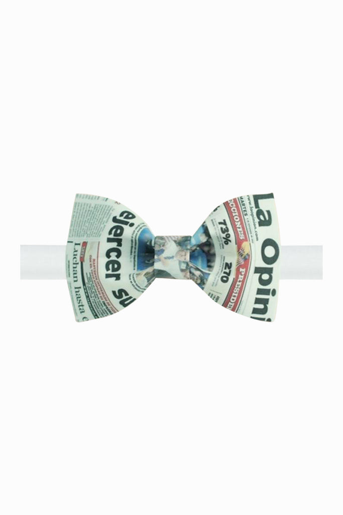 Inspired Newspaper Pattern Bow Tie