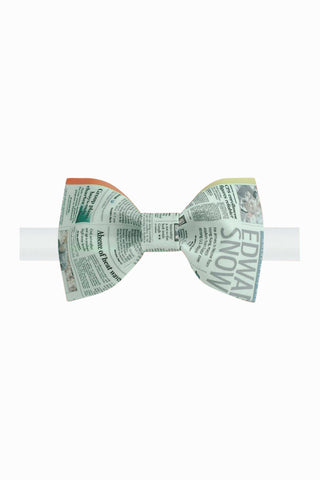 Get A Newspaper Pattern Bow Tie