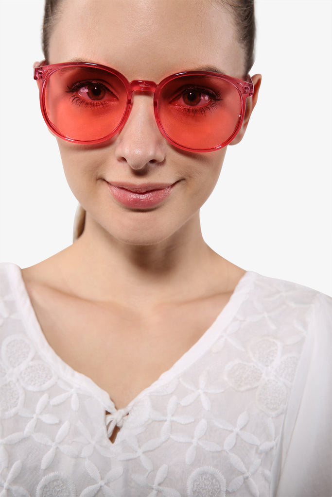 Stylish Clear Red Sunglasses