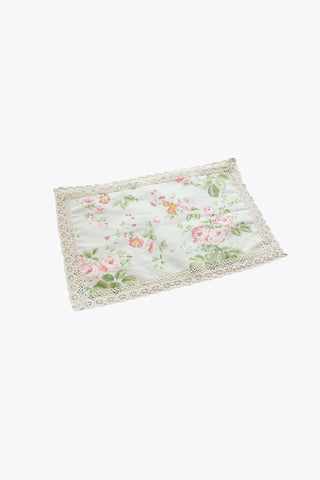 Retro Floral Placemat With Laces