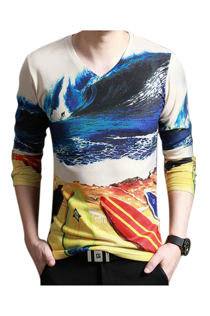 Sea Print Long Sleeve T-shirt