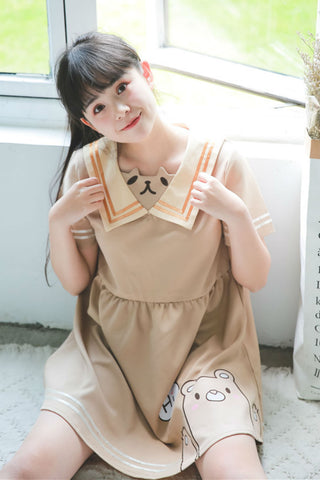 Cute Bears Sailor Dress