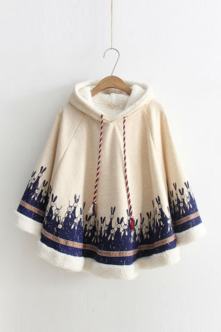 🐰 Cute Rabbit Poncho Coat 🐰