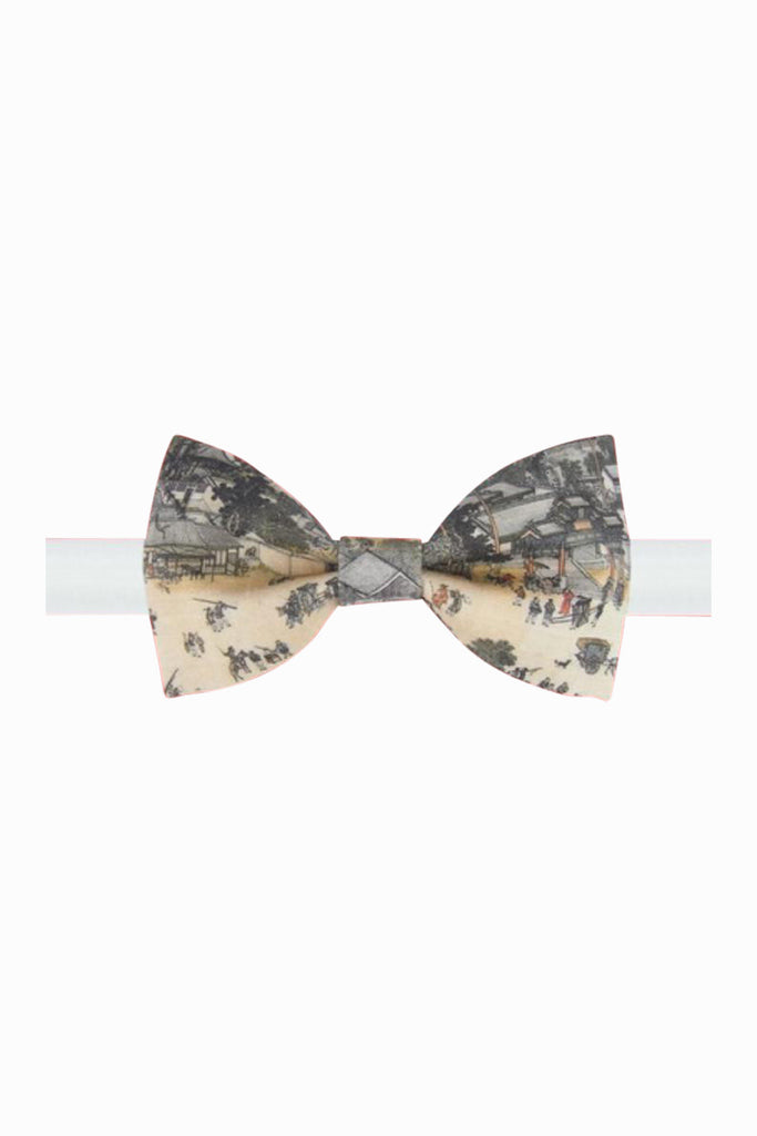 Vintage Chinese Print Bow Tie