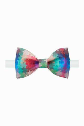Colorful Jigsaws Bow Tie