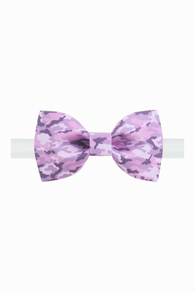 Lavender Camouflage Bow Tie