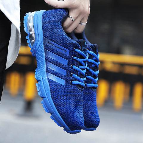 Blue Breathable Sneakers