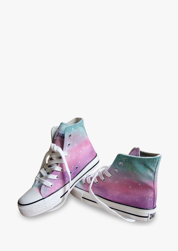 Cute Galaxy Canvas Tie Dye Sneakers