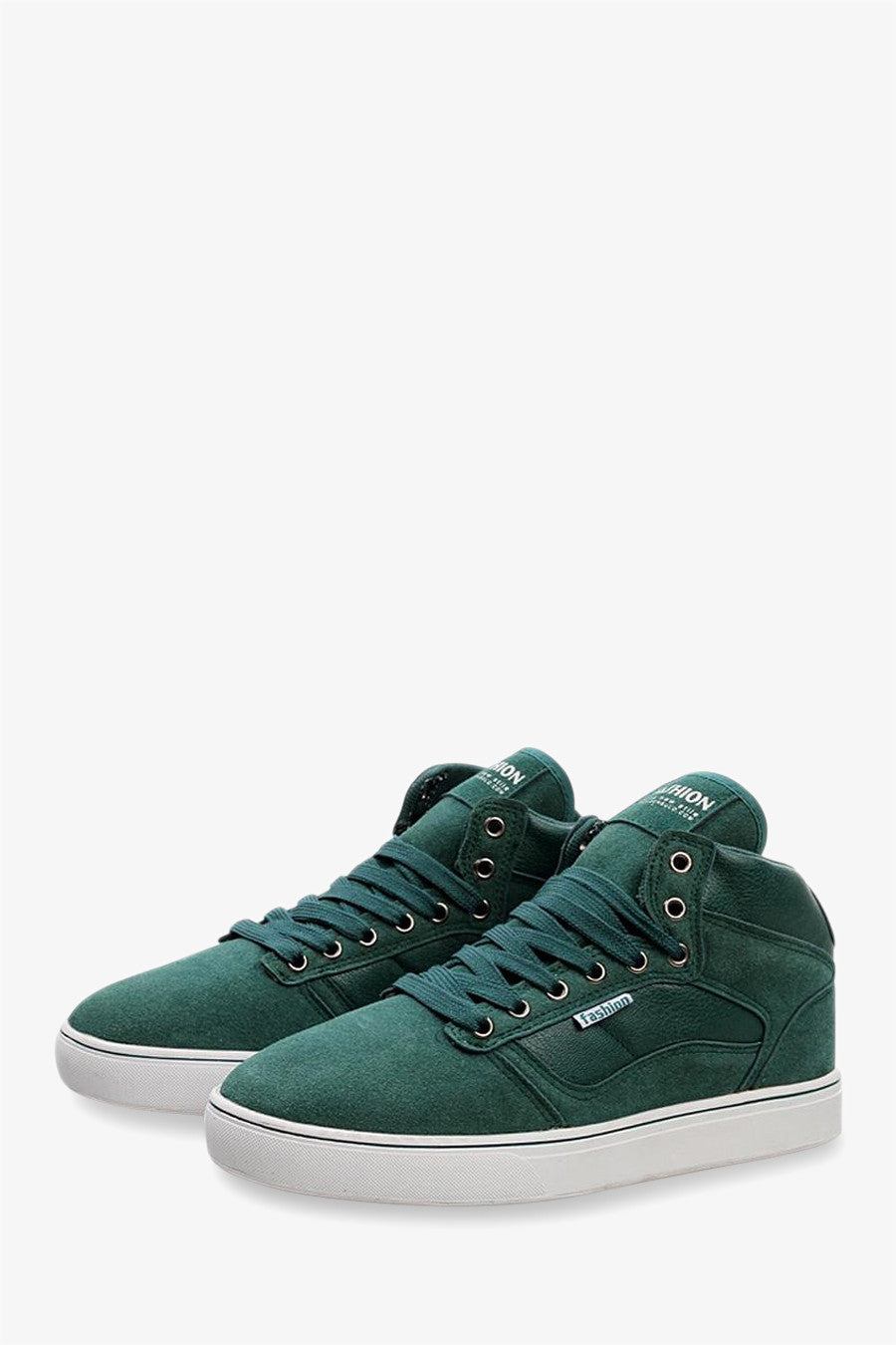 High Top Suede Sneakers In Green