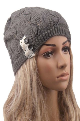 Dark Gray Knitted Beanie