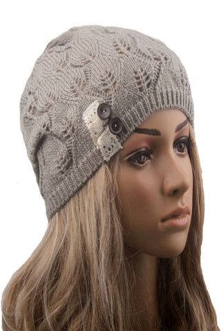 Light Gray Knitted Beanie