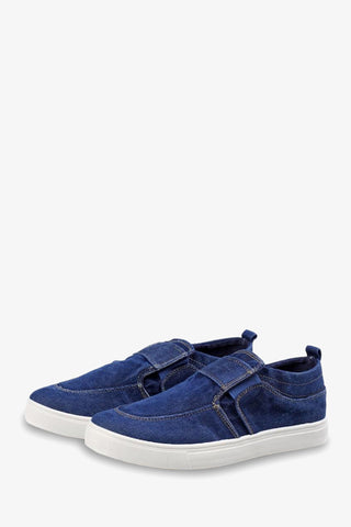 Low Top Blue Canvas Sneakers