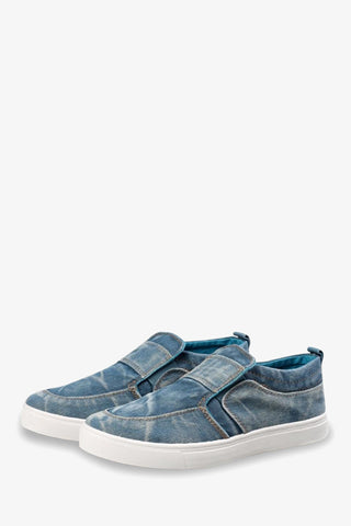 Comfy Blue Canvas Sneakers