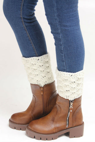 Vintage White Crochet Boot Cuffs