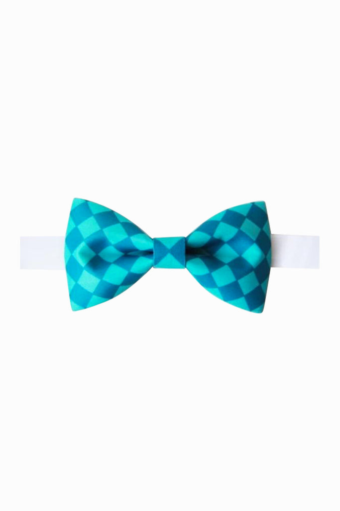 Playing Tartan Blue Bow Tie
