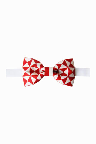 Romantic Geometry Bow Tie