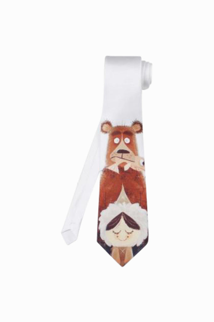Bear And Boy Tie