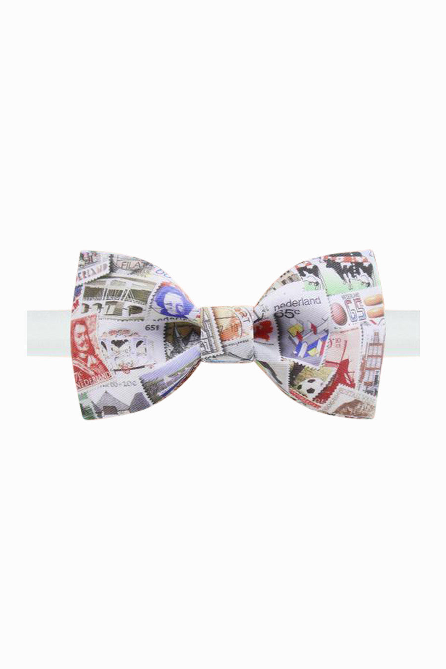 Retro Stamps Bow Tie